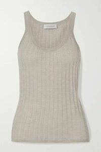Gabriela Hearst - Nevin Ribbed Pointelle-knit Cashmere And Silk-blend Tank - Taupe