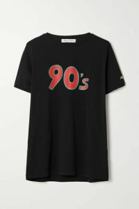 Bella Freud - Printed Cotton-jersey T-shirt - Black