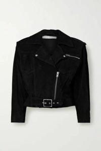 IRO - Lonzo Cropped Suede Biker Jacket - Black