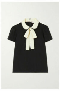 REDValentino - Two-tone Pussy-bow Silk Blouse - Black