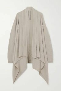 Rick Owens - Fisherman Draped Ribbed Wool Cardigan - Cream