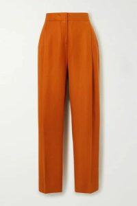 Victoria, Victoria Beckham - Grain De Poudre Tapered Pants - Orange