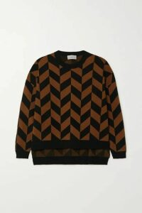 Preen by Thornton Bregazzi - Alexa Jacquard-knit Sweater - Brown