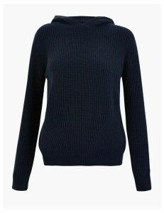 M&S Collection Ribbed Knitted Hoodie