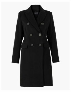 M&S Collection Soft Touch Waisted Overcoat