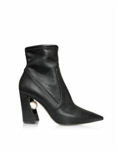 Nicholas Kirkwood Designer Shoes, 90mm Miri Black Nappa Stretch Boots