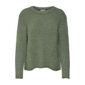 Chunky Knit Jumper with Ribbed Hem