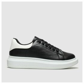 Schuh Black & White Breezy Trainers