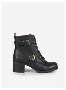 Womens Black 'Marie' Lace Up Boots, Black