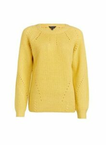 Womens Yellow Stitch Jumper, Yellow