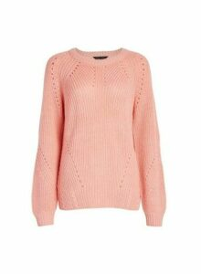 Womens Pink Stitch Jumper, Pink