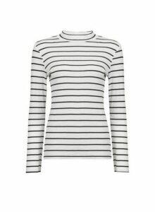 Womens Black And White Striped Jumper, Black