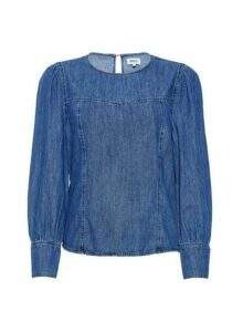 Womens Only Blue Denim Shirt, Blue