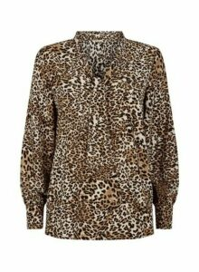 Womens Vesper Multi Colour Leopard Print Blouse, Leopard