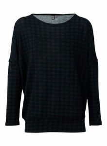 Womens *Izabel London Emerald Checked Knitted Jumper- Green, Green