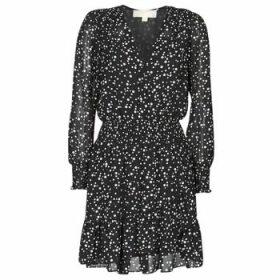 MICHAEL Michael Kors  RUFFLE WRAP DRS  women's Dress in Black