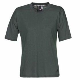 adidas  W MH 3S Tee  women's T shirt in Black
