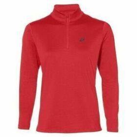 Asics  Silver LS 12 Zip Winter Top  women's Sweatshirt in Red