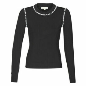 MICHAEL Michael Kors  MK TRIM LS CREW  women's Sweater in Black