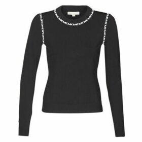 MICHAEL Michael Kors  MK TRIM LS CREW  women's Sweater in Black
