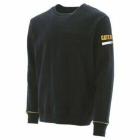Caterpillar  Essentials Unisex Crew Neck Sweater  women's Fleece jacket in Black