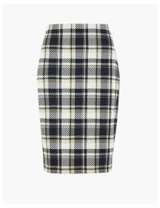 M&S Collection Checked Pencil Skirt