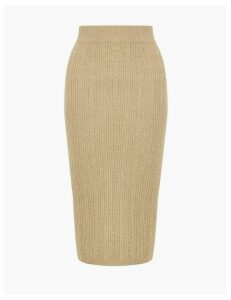 M&S Collection Soft Touch Cable Knit Midi Skirt