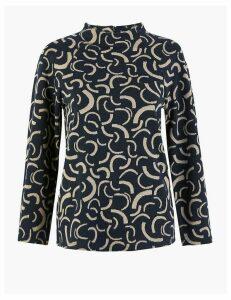 M&S Collection Printed High Neck Sweatshirt