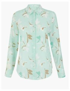 M&S Collection Printed Long Sleeve Blouse