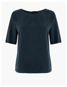 M&S Collection Tencel  Short Sleeve Blouse