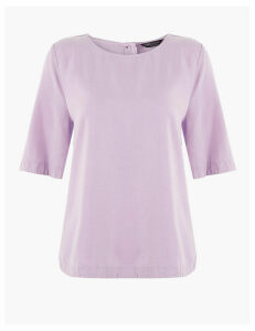 M&S Collection Round Neck Blouse