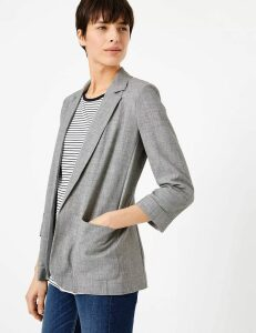 M&S Collection Open Patch Pocket Blazer