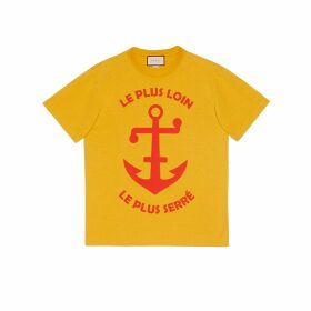 Anchor print oversize T-shirt