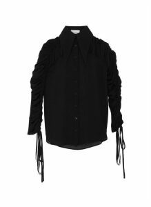 'Marlene' gathered sheer shirt