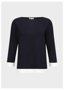 Gracie Sweater Navy Ivory