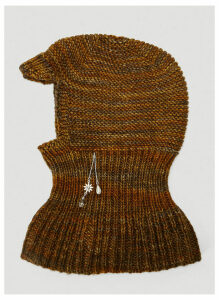 Mass Embellished Merino Wool Balaclava in Brown size One Size