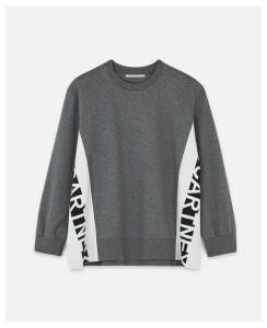 Stella McCartney GREY Logo Sweatshirt, Women's, Size 16