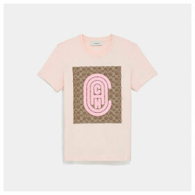 Coach Fitted Retro Signature T-shirt