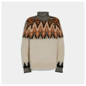 Coach Fair Isle Turtleneck Sweater