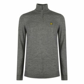 Lyle and Scott quarter Zip Pullover Mens - Grey