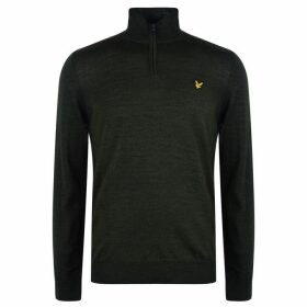 Lyle and Scott quarter Zip Pullover Mens - Deep Spruce