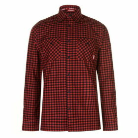 Zukie Gingham Shirt Mens - Red