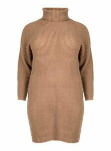**Aarya Neutral Sweater Dress, Nude