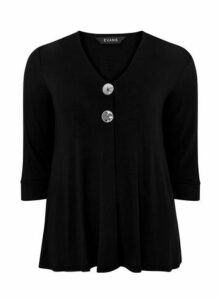 Black Button Detail Top, Black