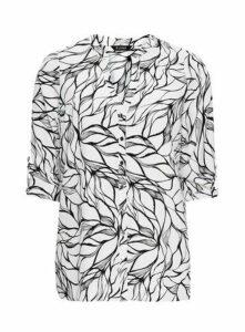 Ivory Monochrome Printed Shirt, White