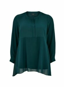Green Chiffon Mix Dipped Blouse, Others