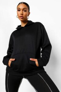 Womens Basic Oversized Hoodie - Black - 16, Black