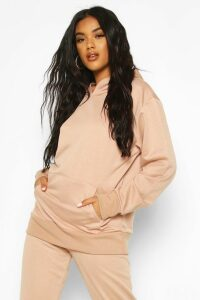 Womens Basic Oversized Hoodie - Beige - 16, Beige