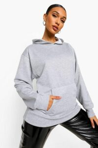 Womens Basic Oversized Hoodie - Grey - 14, Grey