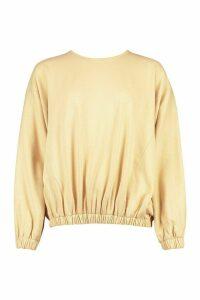 Womens Batwing Extreme Oversized Sweatshirt - beige - 14, Beige